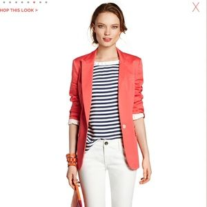 Coral Blazer by Banana Republic